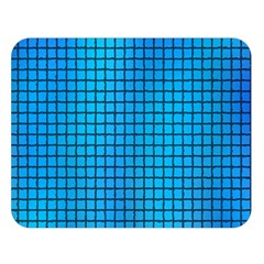 Seamless Blue Tiles Pattern Double Sided Flano Blanket (large)