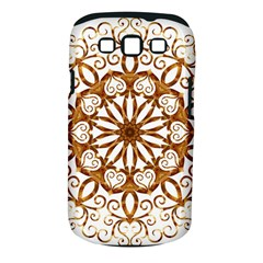 Golden Filigree Flake On White Samsung Galaxy S Iii Classic Hardshell Case (pc+silicone)