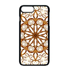 Golden Filigree Flake On White Apple Iphone 8 Plus Seamless Case (black)