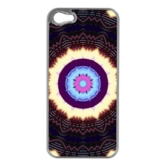 Mandala Art Design Pattern Ornament Flower Floral Apple Iphone 5 Case (silver) by Jojostore