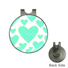 Green Heart Pattern Hat Clips With Golf Markers