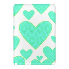 Green Heart Pattern Samsung Galaxy Tab Pro 10 1 Hardshell Case by Jojostore