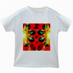 Abstract Abstract Digital Design Kids White T Shirts by Jojostore