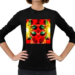 Abstract Abstract Digital Design Women s Long Sleeve Dark T Shirt