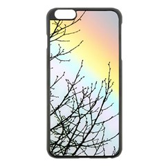 Rainbow Sky Spectrum Rainbow Colors Apple Iphone 6 Plus/6s Plus Black Enamel Case