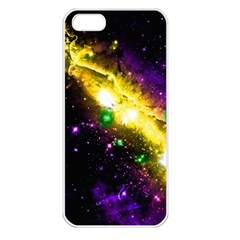 Galaxy Deep Space Space Universe Stars Nebula Apple Iphone 5 Seamless Case (white)