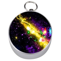 Galaxy Deep Space Space Universe Stars Nebula Silver Compasses by Jojostore