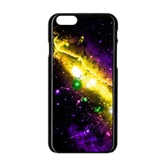 Galaxy Deep Space Space Universe Stars Nebula Apple Iphone 6/6s Black Enamel Case by Jojostore