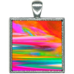 Abstract Illustration Nameless Fantasy Square Necklace by Jojostore