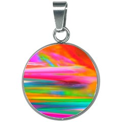 Abstract Illustration Nameless Fantasy 20mm Round Necklace