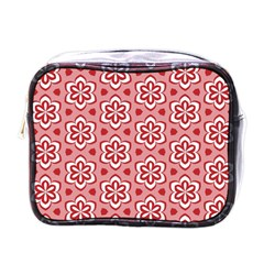 Floral Abstract Pattern Mini Toiletries Bag (one Side)