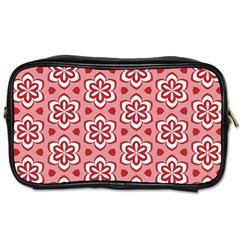 Floral Abstract Pattern Toiletries Bag (two Sides)