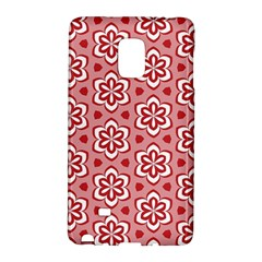 Floral Abstract Pattern Samsung Galaxy Note Edge Hardshell Case by Jojostore