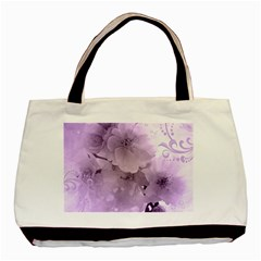 Wonderful Flowers In Soft Violet Colors Basic Tote Bag