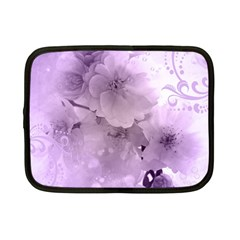 Wonderful Flowers In Soft Violet Colors Netbook Case (small)