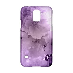 Wonderful Flowers In Soft Violet Colors Samsung Galaxy S5 Hardshell Case  by FantasyWorld7