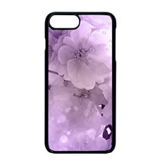 Wonderful Flowers In Soft Violet Colors Apple Iphone 8 Plus Seamless Case (black)