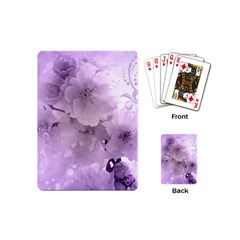 Wonderful Flowers In Soft Violet Colors Playing Cards (mini) by FantasyWorld7