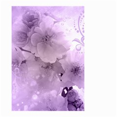 Wonderful Flowers In Soft Violet Colors Small Garden Flag (two Sides) by FantasyWorld7