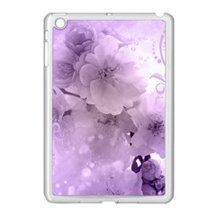 Wonderful Flowers In Soft Violet Colors Apple Ipad Mini Case (white) by FantasyWorld7