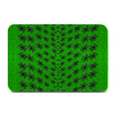 Forest Flowers In The Green Soft Ornate Nature Plate Mats by pepitasart