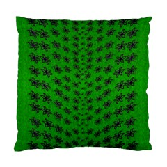 Forest Flowers In The Green Soft Ornate Nature Standard Cushion Case (one Side) by pepitasart