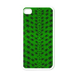 Forest Flowers In The Green Soft Ornate Nature Apple Iphone 4 Case (white) by pepitasart