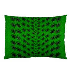 Forest Flowers In The Green Soft Ornate Nature Pillow Case (two Sides) by pepitasart