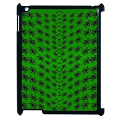 Forest Flowers In The Green Soft Ornate Nature Apple Ipad 2 Case (black) by pepitasart