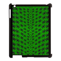 Forest Flowers In The Green Soft Ornate Nature Apple Ipad 3/4 Case (black) by pepitasart