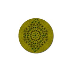 Flower Wreath In The Green Soft Yellow Nature Golf Ball Marker (4 Pack) by pepitasart