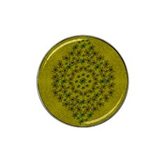 Flower Wreath In The Green Soft Yellow Nature Hat Clip Ball Marker (10 Pack)