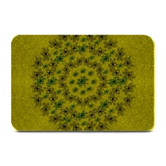 Flower Wreath In The Green Soft Yellow Nature Plate Mats by pepitasart