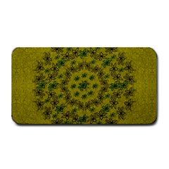 Flower Wreath In The Green Soft Yellow Nature Medium Bar Mats by pepitasart