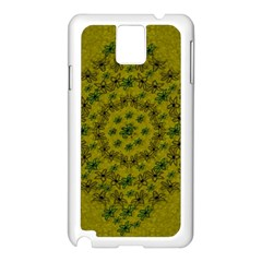 Flower Wreath In The Green Soft Yellow Nature Samsung Galaxy Note 3 N9005 Case (white) by pepitasart