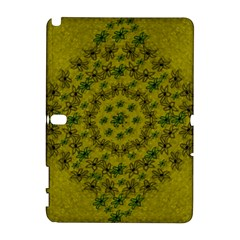 Flower Wreath In The Green Soft Yellow Nature Samsung Galaxy Note 10 1 (p600) Hardshell Case