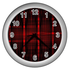 Black And Red Backgrounds Wall Clock (silver)