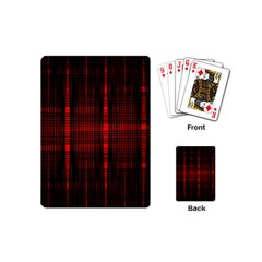 Black And Red Backgrounds Playing Cards (mini)