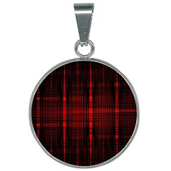 Black And Red Backgrounds 25mm Round Necklace