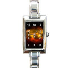 Galaxy Nebula Space Cosmos Universe Fantasy Rectangle Italian Charm Watch by Jojostore