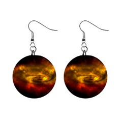 Galaxy Nebula Space Cosmos Universe Fantasy Mini Button Earrings by Jojostore
