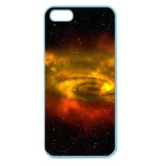 Galaxy Nebula Space Cosmos Universe Fantasy Apple Seamless Iphone 5 Case (color)