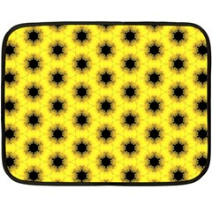 Yellow Fractal In Kaleidoscope Double Sided Fleece Blanket (mini)  by Jojostore