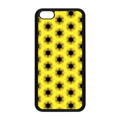 Yellow Fractal In Kaleidoscope Apple Iphone 5c Seamless Case (black) by Jojostore