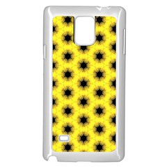 Yellow Fractal In Kaleidoscope Samsung Galaxy Note 4 Case (white)