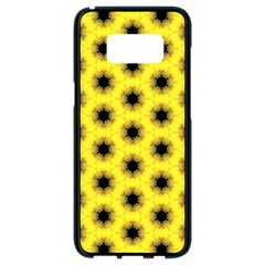 Yellow Fractal In Kaleidoscope Samsung Galaxy S8 Black Seamless Case