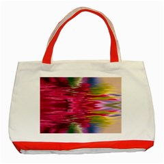 Abstract Pink Colorful Water Background Classic Tote Bag (red) by Jojostore