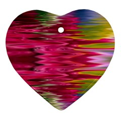 Abstract Pink Colorful Water Background Heart Ornament (two Sides) by Jojostore