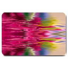 Abstract Pink Colorful Water Background Large Doormat