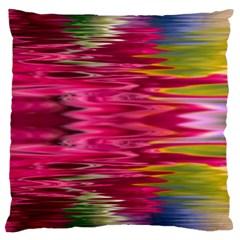 Abstract Pink Colorful Water Background Large Cushion Case (two Sides) by Jojostore